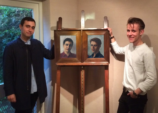 Max and George Jones with portraits_edit
